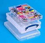 Really Use Box 4CDI2HOB(PQ120) Aufbewahrungsbox mit Einsätzen, 4 Liter