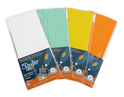 3Doodler Start Eco-Plastic Bundle (+Glow in the Dark Plastic) - Summer Splash