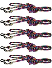Sharplace 5pcs Cordons à Lunettes Support Porte à Lunettes - Réglable et  Anti-dérapant en 4193eab4e4af