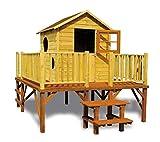 Stelzenhaus Magnus- Spielturm Holz mit Rutsche für den Garten, FSC zertifiziert/ TÜV geprüft inkl. Dachpappe (Stelzenhaus ohne Rutsche)