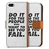 DeinDesign Apple iPhone Se Étui Étui Folio Étui magnétique Do it for The People