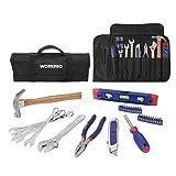 WORKPRO 29 Werkzeug-Set mit Tasche, Schließt Hammer, Gebrauchsmesser, Zangen, Schraubenzieher,Sprite, Kombischlüssel und verstellbaren Schraubenschlüssel