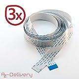 AZDelivery  3 x Cable de Cinta Flexible de Repuesto Flex Cable 200 cm para Raspberry Pi Cámara/Pantalla con ebook Gratis!