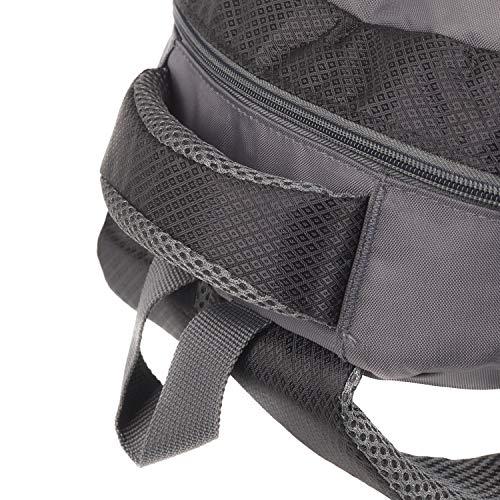 Rucksack für Herren und Damen von Camden Gear. Schulrucksack – Laptoprucksack für die Schule – Laptop – Wandern. Wasserdicht, Top mit mehreren Fächern. Schwarz und Grau - 7