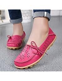 SHINIK Zapatos de mujer Verano Slip-Ons Slip-Ons Zapatos de guisantes Mocasines planos Casual Low-Top Oxfords...