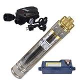 Agora-Tec® AT- 4 Zoll 750-5DW Hochdruck Tauchpumpe für Zisternen und Wassertanks inkl. Druckschalter mit Trockenlaufschutz für Haus und Garten mit max: 6,1 bar, 3000l/h