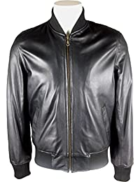 Amazon.it  giacca di pelle uomo - The Real Leather Shop   Giacche ... 483912fe325