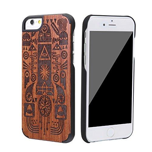 """SunSmart Housses classique en bois iPhone 6 Plus Housse en bois naturel de protection pour iPhone Plus 5.5""""-26 43"""