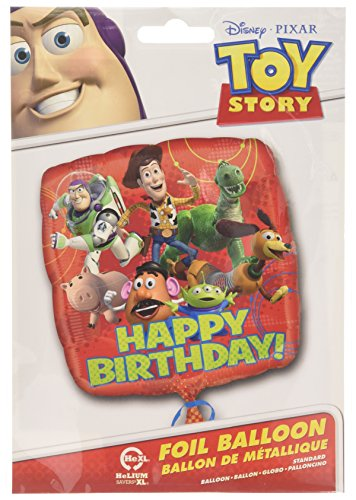 Amscan International Standard Vierkant-Toy Story Gang Happy Birthday Ballon (Toy Story Halloween-dekoration)