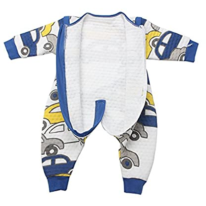 Bebé Saco de dormir Con Cremallera Piernas Separadas Mangas extraíbles