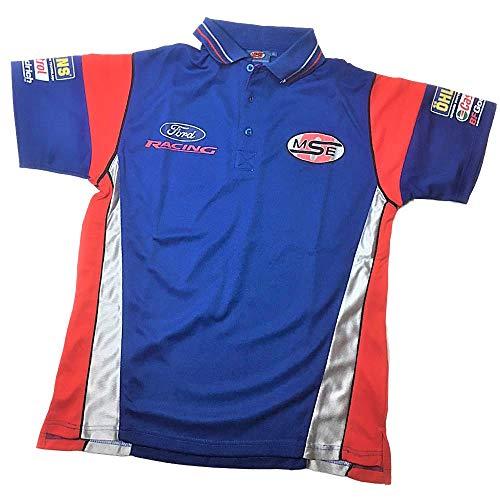 OMSE Herren Poloshirt Ford Racing Rally X Cross Team Olsberg MF2793, Blau, Größe XS - Cross 1 T-shirts