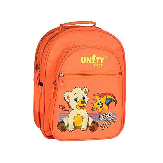 Unity Bags Nylon Polyester Orange Cute Kids Cartoon Toy Printed Hero Zero School Backpack