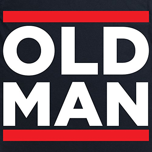 Old Man T-shirt, Uomo Nero