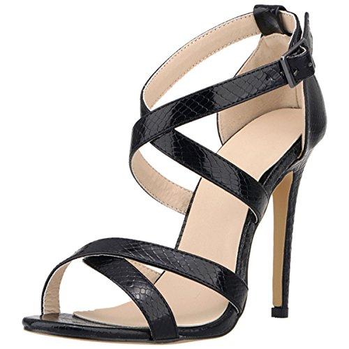 wealsex Donna Sandali Tacco Alto Cinturino alla Caviglia Buckle Scarpa Nuziale Sposa Eleganti Moda Partito Open Toe Sandali (Rosa,37)