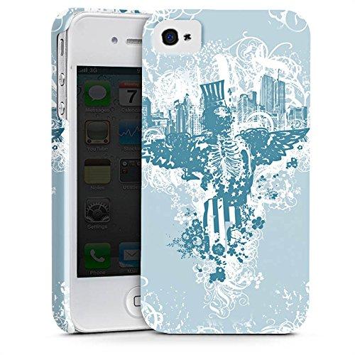 Apple iPhone X Silikon Hülle Case Schutzhülle Stadt Freiheit Ornamente Premium Case glänzend