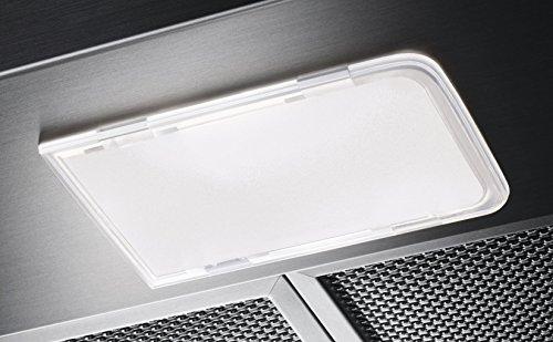 AEG DPB2621S Flachschirm-Dunstabzugshaube / Abluft oder Umluft / 60cm / Silberfarben / max. 120 m³/h / min. 68 – max. 72 dB(A) / D / Kurzhubtasten - 5