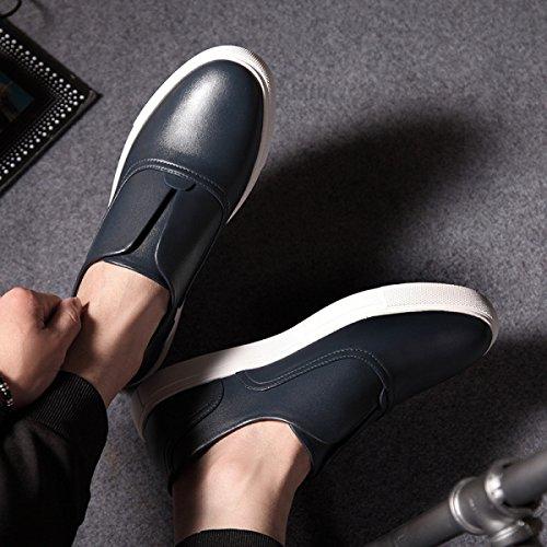 Versione Coreana Uomini Giovani Scarpe Da Uomo Casual Scarpe Scarpe Pigri Blue