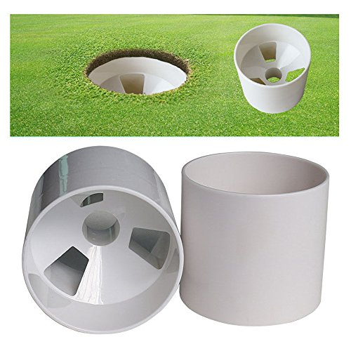 Neuf 2x trou de golf d'entraînement de football Putting Green de golf Practise Cup 10,2cm