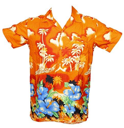 Camisa hawaiana para hombre, diseño de palmeras, para la playa, fiest