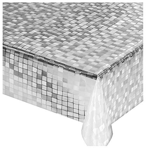 Emmevi tovaglia cucina trasparente quadretti vendita al metro altezza 140cm antimacchia pvc mod.lux3