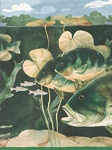 Fish & Lily Pads Wallpaper Border CTC226B by Seabrook by Seabrook