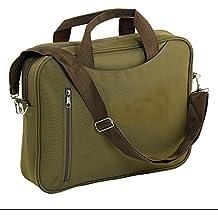 Maletín para portátil Bolsa de hombro Maletín para documentos con cremallera trabajo viaje oficina