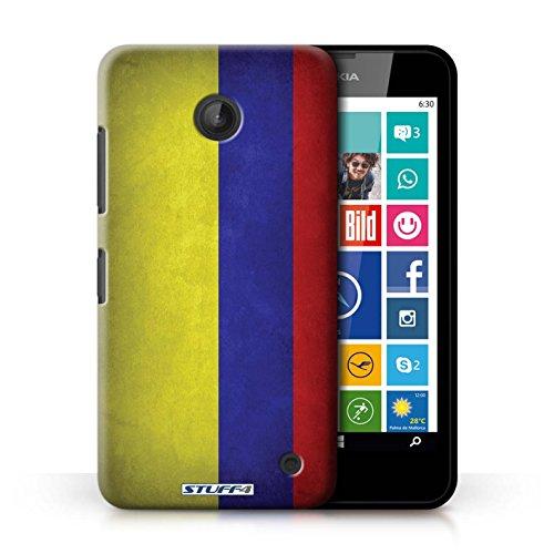 Kobalt® Imprimé Etui / Coque pour Nokia Lumia 635 / Allemagne/allemand conception / Série Drapeau Columbia/Colombie