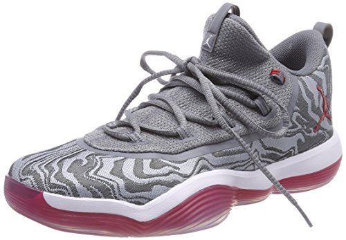 Foto de Nike Jordan Super.Fly 2017 Low, Zapatos de Baloncesto para Hombre, Multicolor (Wolf Grey/University Red/Cool Grey/White 004), 42.5 EU