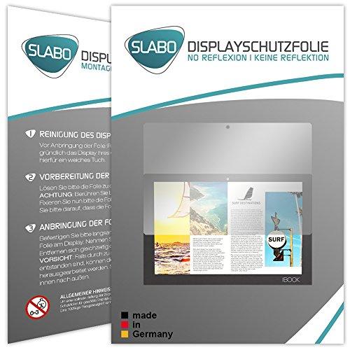 Slabo 2 x Displayschutzfolie Lenovo Yoga Book Displayschutz Schutzfolie Folie No Reflexion|Keine Reflektion MATT - Entspiegelnd Made IN Germany