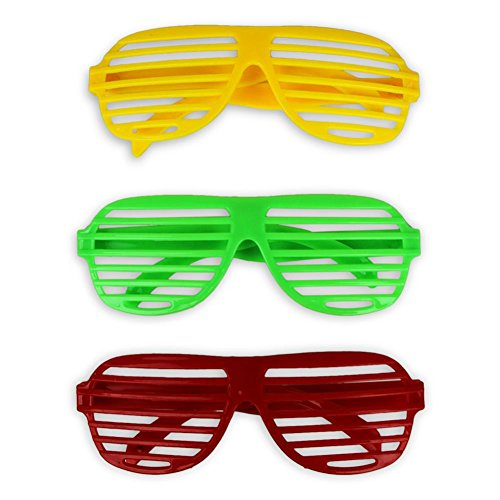6 x Partybrille Atzenbrille Party Brille Atzen Brille