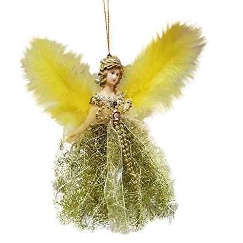 Cerlemi Weihnachtsdekoration Thema Engel Mädchen Weihnachten Fenster Dekoration Weihnachtsbaum Ornament Anhänger Christbaumkugeln Weihnachtsdeko mit Aufhänger Weihnachtsbaumschmuck