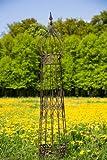 kuheiga Rankgerüst Rankhilfe aus Metall H: 150cm, Ø: 25cm Rankturm Obelisk