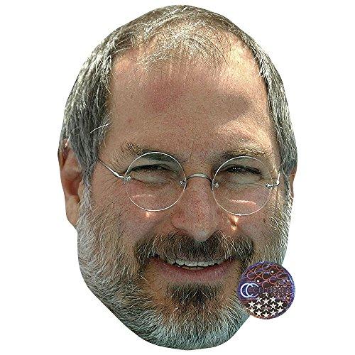 Celebrity Cutouts Steve Jobs Maske aus Karton (Jobs Brille Steve)