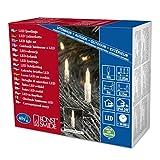 Konstsmide 6004-103 LED Minilichterkette/für Außen (IP44) / 24V Außentrafo / 40 warm weiße Dioden/transparentes Kabel