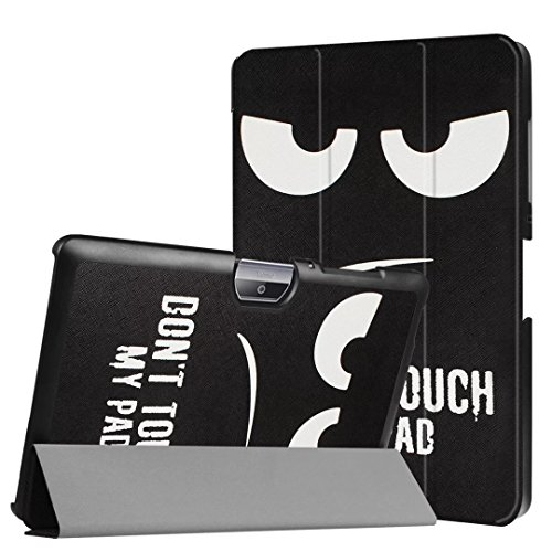 WiTa-Store Schutzhülle für Acer Iconia Tab One 10 B3-A30 B3-A32 A3-A40 10.1 Zoll Case Bookstyle Cover Hülle (Dont Touch My Pad)