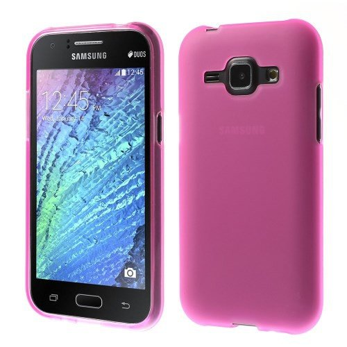 jbTec® TPU-Case / Hülle zu Samsung Galaxy J1 / SM-J100 - EINFARBIG - Handy-Schutzhülle, Farbe:Pink-Transparent