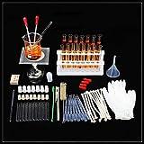 Kit d'instruments en verre pour laboratoire de chimie, trépied Science de base Tube de support...