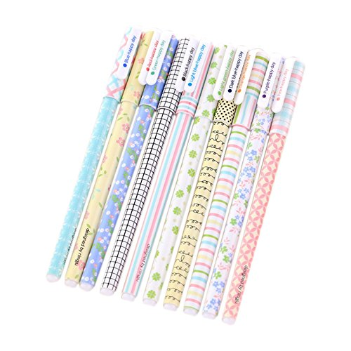 10 Stück Da.Wa Multi Farben Bunte Gel Tinte Stift Cute Korean Cartoon Pin-Typ für Färbung Bücher/Schreiben/Kunst Zeichnung, Bunte Gel Tinte Stifte Professionelle Künstler Qualität Stifte (Cute Cartoon-zeichnung)
