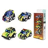 Auto Spielzeug Mini Pull Back Spielzeugautos Graffiti Legierung Fahrzeuge Für Kinder ab 3 4 5 6 Jahre Mädchen Junge Geschenk Spielzeug, Zufällige Farbe(4er Pack), (MEHRWEG)
