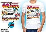 Tee Shirt Anniversaire 40 ans Homme à Personnaliser avec Stylo
