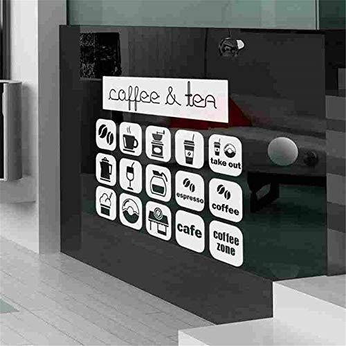 Wandtattoo Kinderzimmer Kaffee-Aufkleber-Nahrungsmittelabziehbild-Café-Plakat-Kunst-Dekor für Kaffeestube -