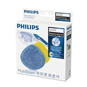 Philips FC8055/01 Kit Replacement for Philips FC7008/01 SteamCleaner Multi, 2 x Microfibre CLOTH Washable and Reusable