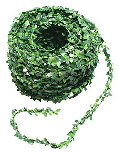 Mini Buchsbaum Girlande Kunststoff grün 30m Tischdeko Hochzeiten Kirche Bankgestaltung Buxbaum künstlich (Mini-buchsbaum-girlande)