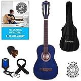 Klassische Gitarre für Kinder, 1/4-Größe, 78,7 cm, Nylonsaiten Quarter size blau