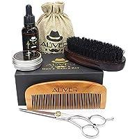 kit barba hombre, leegoal Cuidado de la barba grooming y kit de recorte con aceite