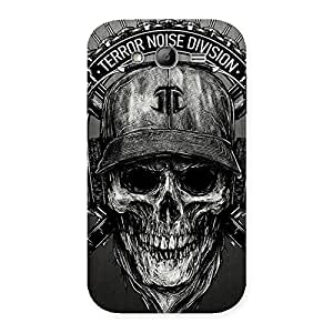 Enticing Grey Skull Terr Back Case Cover for Galaxy Grand Neo Plus