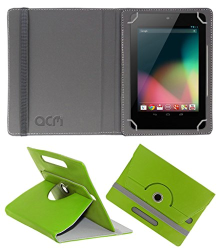 Acm Rotating 360° Leather Flip Case for Asus Google Nexus 7 2012 Cover Stand Green  available at amazon for Rs.149