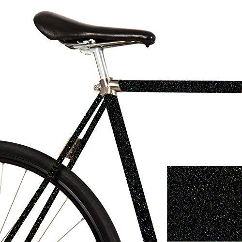 MOOXI-Bike Fahrrad-Folie Galaxy Black Glitzernd Glänzend für den Rahmen deines Fahrrads (ausreichend für EIN ganzes Rad)
