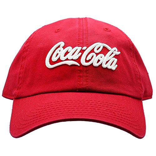 American Nadel X Coca-Cola Washed Raglan Hat in Rot/Weiß Twill Mesh Back Cap