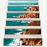 Y-YT Treppenaufkleber Treppe-Aufkleber Dekoration Antifouling-Wasserdichte selbstklebendes Papier zu Hause (EIN Satz von 6 100 * 18cm)